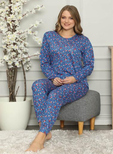Akbeniz Pijama Takım Saks